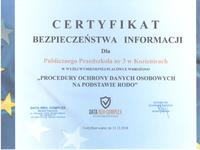 Certyfikat Bezpieczeństwa Informacji